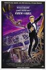 James Bond 007 Classical MOVIE A View to a Kill Movie Silk Fabric Poster $9.83 CAD