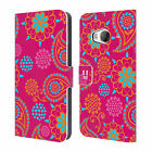 HEAD CASE DESIGNS PSYCHEDELIC PAISLEY LEATHER BOOK WALLET CASE FOR HTC ONE ME