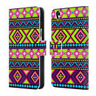 HEAD CASE DESIGNS NEON AZTEC LEATHER BOOK WALLET CASE COVER FOR ONEPLUS X