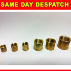 BRASS SCREWED SOCKET FEMALE BSP THREAD VARIOUS SIZES NEW