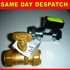 GAS TAP SHUT OFF ISOLATION VALVE 15mm BRASS OR CHROME LEVER STOP COCK NEW 15 MM