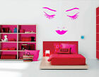 GIANT FACE WALL STICKER LARGE WALL DECAL SALON ART STENCIL TRANSFER