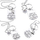 Fashion Silver Letter Heart Daddy Daughter Keychain Key Ring Necklace New