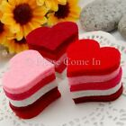 100 Felt Heart Cutout Scrapbooking Embellishment Wedding Hair Accessories