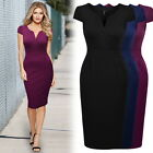 Womens Retro Business Cocktail Evening Party Wear To Work Slim Pencil OL Dress