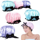 Luxury Bath Elastic Waterproof Bowknot Hair Care Cozy Lace Shower Cap Hat Lady