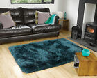 SMALL - LARGE SOFT CHUNKY THICK LONG LUXURY SHAGGY PILE TEAL BLUE PEARL RUG
