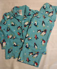 Gymboree 2T or XS 4 Penguin Fleece 2PC  Pant Shirt Pajama Sleepwear Set NWT