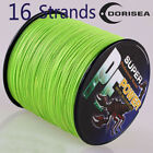 16Strands 100M-2000M 20LB-300LB Fluorescent Green Hollow Braided Fishing Line