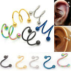 Nose Piercing Ring Stainless Steel Twist Nose Lip Body Ear Stud Ring