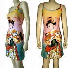 Japanese Geisha with Sensu New Japan Art Print Dress Misses S M L XL P&N