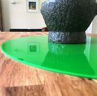 Bright Green Oval Surface Protectors, Easy Wipe Clean, use on any Desk or Table