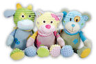 Baby Soft Toy with Built in Rattle 30 to 33cm Supersoft Tactile