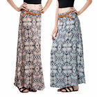 Stella Morgan Designer Womens Long Skirt New Ladies Boho Patterned Belted Maxi