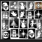 50 x Christmas stencils assorted-3 part midi 4-7cms glitter tattoos facepainting
