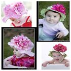 New Baby/ Girl / Toddler/ Big Flower Sun Hat suit 12M-4yrs