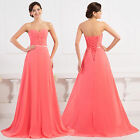 UK Evening Long Prom Dresses Wedding Bridesmaid Cocktail Party Ball Gowns Dress