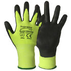 Level 5 Cut Resistant Nylon Fiber Gloves Safety Cut Protection GREEN BLACK