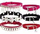 Bling Rhinestones Crystals Diamond Pearl Fashion BELL Collar for Cat and Kitten