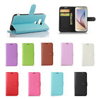 9 Colours Book Flip Wallet Leather Cover Case For Various  Mobile Phones 38
