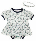 MLB Infant Seattle Mariners Dress with Headband Set , White