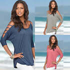 New Fashion Sexy Womens Ladies Top Shirt Blouse Summer Casual Loose Tops T-shirt