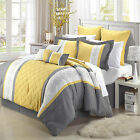 Livingston Yellow Comforter Bed In A Bag Set 12 piece