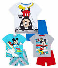 Boys Short Sleeved Disney Mickey Mouse PJ Set New Kids Pyjamas Ages 3-8 Years