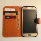 Brand New Flip Leather Wallet Card Magnetic Case Cover - Samsung Galaxy S6, Edge