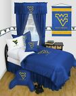West Virginia Mountaineers Comforter Sham & Bedskirt Twin Full Queen LR