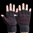 1Pair For Weight Lifting Gym Gloves Workout Wrist Wrap Sports Training Fitness