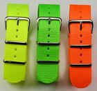 NEON G10 MILITARY WATCH STRAP yellow green orange 18mm 20mm 22mm NEW