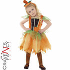 Child Pumpkin Fairy Toddlers Costume Girls Halloween Fancy Dress Outfit New