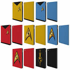 OFFICIAL STAR TREK UNIFORMS AND BADGES TOS LEATHER BOOK CASE FOR APPLE iPAD