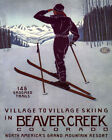 POSTER CROSS COUNTRY SKIING BEAVER CREEK COLORADO SKI USA VINTAGE REPRO FREE S/H