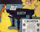 POSTER BECHSTEIN PIANO PLAYER ANGEL SONG MUSIC MUSICIAN VINTAGE REPRO FREE S/H