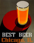 POSTER BEST BEER CHICAGO IL BREWERIES PALE LAGER DRINK VINTAGE REPRO FREE S/H