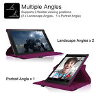 """Amazon Kindle Fire HD 10 2015 10.1"""" Slim Rotating Standing PU Leather Case Cover"""