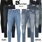 "Mens Gents Branded Jeans Slim Stretchy Blue Black Denim Ripped Trousers 30""-38"""