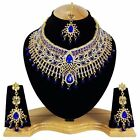 Indian Bollywood Style Fashion Gold Plated Bridal Jewelry Necklace Set, Style 16