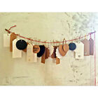 10X Blank Brown White Black Kraft Paper Hang Tags Label Price Gift Cards DIY BE