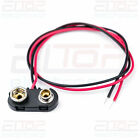 Heavy Duty PP3 9V Battery Connector Clip Snap Side Entry Lead: 150mm 200mm 300mm