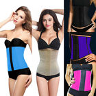 UK Women Latex Underbust Body Shaper Waist Clincher Corset Training Trainer Belt