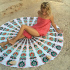 New Women Round Scarf Sunscreen Chiffon Shawl Wrap Towel Printed Beach Cover-up