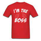 """FUNNY MEN'S """"I'M THE BOSS"""" *THUMBS UP* SHIRT - VARIOUS SIZES + COLOURS"""