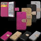 Flip Bling Glitter Magnetic Wallet Leather Case Cover For iPhone4 4s 5S 5G 5C