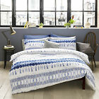 Arizona Indigo Blue Grey Tie Dye Duvet Cover Set - Blueprint By Ashley Wilde