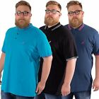 KANGOL JOSHUA NEW BIG MENS PLUS SIZE SHORT SLEEVE POLO CASUAL T SHIRT 2XL-5XL