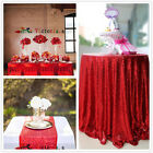 Red Sequin Table Cloth, Shimmer Sparkly Overlays Tablecloths for Wedding