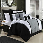Livingston Black Comforter Bed In A Bag Set 8 piece